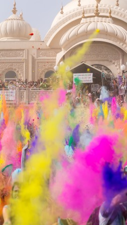 Holi Festival Of Colours, Indian holiday, spring, life, new moon, Holika, colored powder, event (vertical)