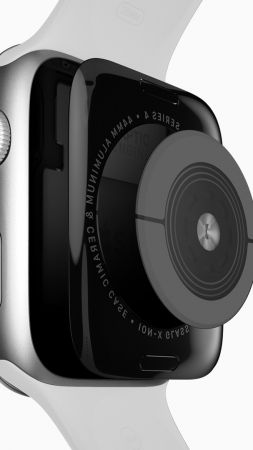 Apple Watch Series 4, sensor, Apple September 2018 Event (vertical)