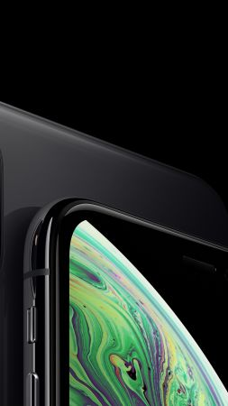 iPhone XS, iPhone XS Max, space gray, smartphone, 5K, Apple September 2018 Event (vertical)