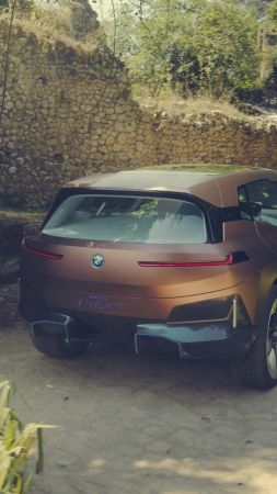 BMW Vision iNEXT, SUV, electric cars, 4K (vertical)
