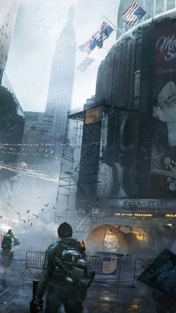 The Division, Tom Clancy's, game, apocalypse, PS4, xBox One, PC, screenshot, 4k, 5k, 2015 (vertical)