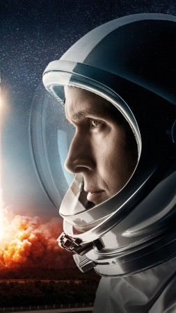 First Man, Ryan Gosling, 4K (vertical)