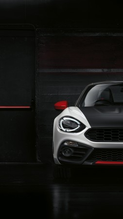 Fiat 124 GT Abarth, 2018 Cars, 4K (vertical)
