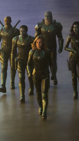 Captain Marvel, Brie Larson, 5K (vertical)
