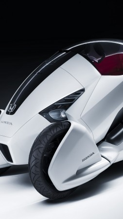 Honda 3R-C, concept, Honda, three-wheeled, electric cars, vehicle, bike, front (vertical)