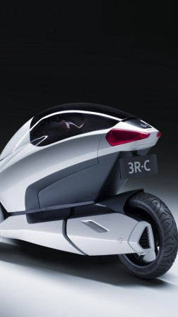 Honda 3R-C, concept, Honda, three-wheeled, electric cars, vehicle, bike, back (vertical)