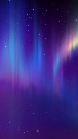 aurora, space, abstract, HD (vertical)