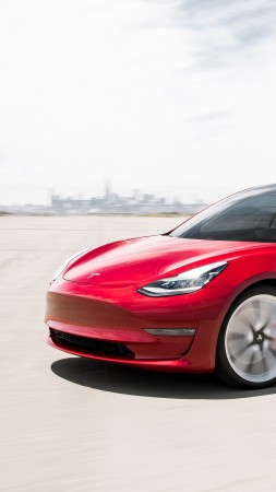 Tesla Model 3 Performance, 2019 Cars, electric cars, 4K (vertical)