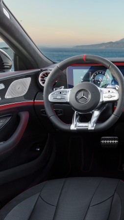 Mercedes-Benz CLS53 AMG, 2019 Cars, 4K (vertical)