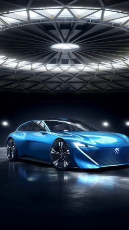 Peugeot Instinct, electric cars, 4K (vertical)