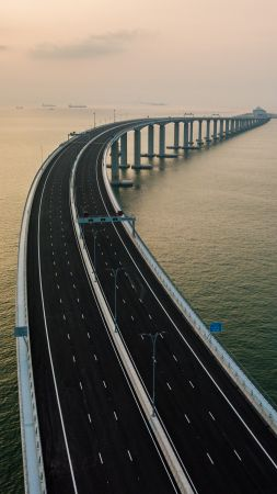 Hong Kong-Zhuhai-Macau Bridge, China, 4K (vertical)