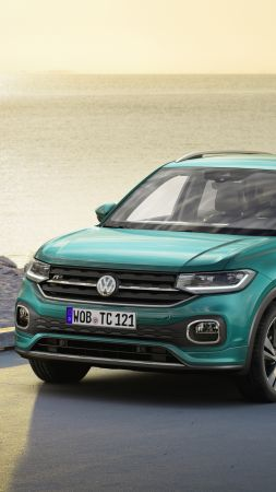 Volkswagen T-Cross, SUV, 2019 Cars, 4K (vertical)