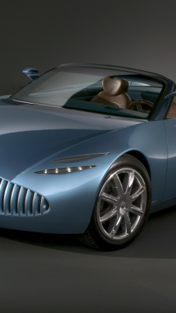 Buick Bengal, concept, Buick, classic cars, roadster, cabriolet, blue, front (vertical)