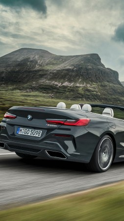 BMW 8-Series Convertible, M850i xDrive Cabrio, 2019 Cars, 4K (vertical)