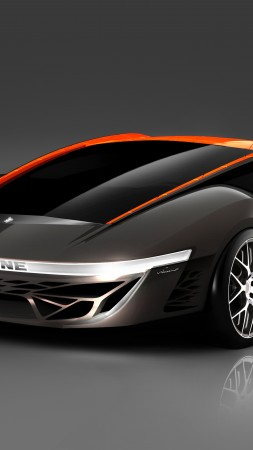 Bertone Nuccio, concept, Bertone, coupe, V8 engine, silver, orange (vertical)