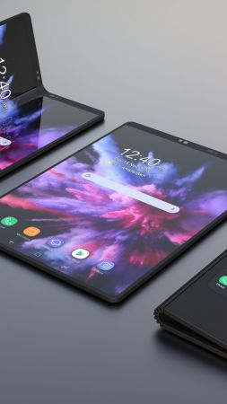 Samsung Galaxy Fold, foldable smartphone, HD (vertical)