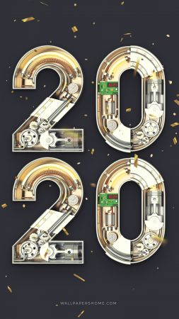 New Year 2019, Christmas, poster, 8k (vertical)