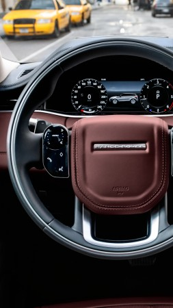 Range Rover Evoque, interior, SUV, 2019 Cars, 4K (vertical)