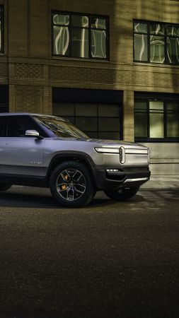 Rivian R1T, SUV, electric cars, 4K (vertical)