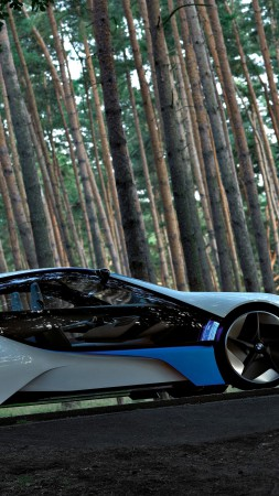 BMW Vision, electric cars, VL, BMW, Best Electric Cars 2015, concept, side, forest (vertical)