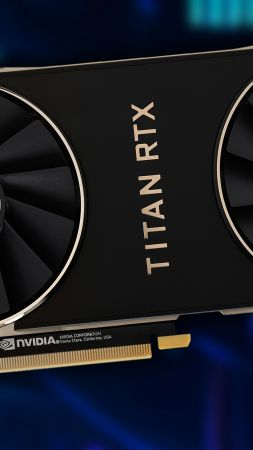 Nvidia Titan RTX, graphics card, 4K (vertical)