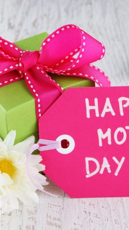 Mother's Day, event, greetings, gift, illustration, mother, love, flowers (vertical)