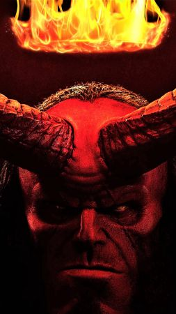 Hellboy, David Harbour, poster, 4K (vertical)
