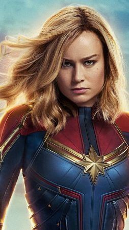Captain Marvel, Brie Larson, 4K (vertical)