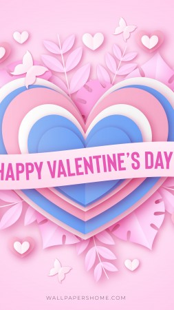 Valentine's Day, 2019, love image, heart, 8k (vertical)