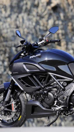 Ducati Diavel, cruiser, Ducati, motorcycle, Testastretta, Evoluzione, Devil, black (vertical)