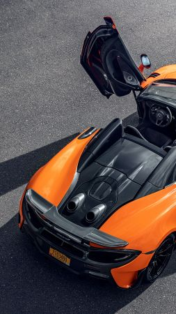 McLaren 600LT Spider, supercar, 2020 Cars, 5K (vertical)