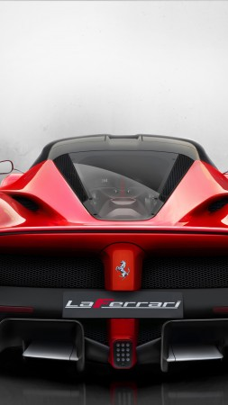 Ferrari LaFerrari, hybrid, sports car, Ferrari, supercar, F150, F70, limited edition, back (vertical)