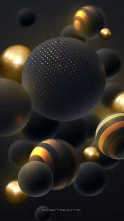abstract, 3D, colorful, pearls, 8k (vertical)