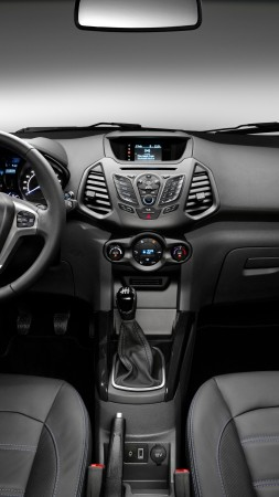 Ford EcoSport, ecosafe, SUV, Ford, Gen 2, SYNC, crossover, Titanium, LHD, interior (vertical)