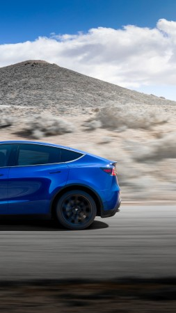 Tesla Model Y, 2020 Cars, electric cars, SUV, 8K (vertical)