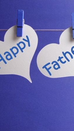 Father's Day, event, dad, love, blue, hearts (vertical)