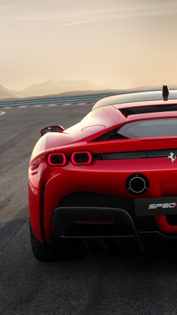Ferrari SF90 Stradale, 2019 Cars, supercar, 4K (vertical)