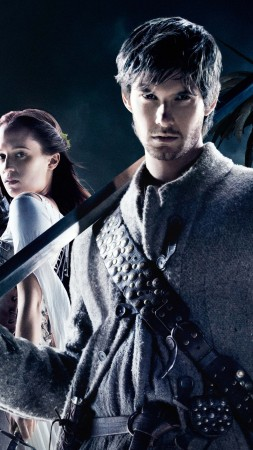Seventh Son, 7th son, film, movie, mage, eagle, moon, sword, warrior, fire, Ben Barnes, Julianne Moore, Alicia Vikander, poster (vertical)