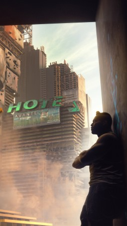 Cyberpunk 2077, E3 2019, screenshot, 4K (vertical)