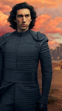 Star Wars: The Rise of Skywalker, Adam Driver, Daisy Ridley, 5K (vertical)