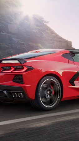 Chevrolet Corvette Stingray Z51, 2020 cars, luxury cars, 5K (vertical)