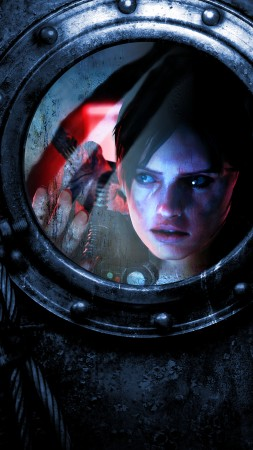 Resident Evil: Revelations 2, survival horror, game, Biohazard Revelations 2, window, blood, ps4, xbox, pc, screenshotProject Siren (vertical)