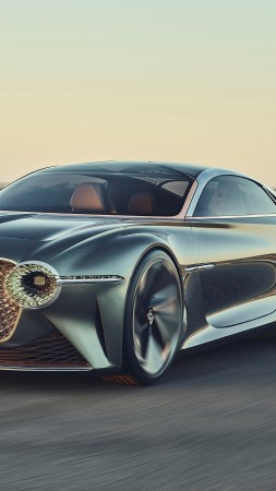 Bentley EXP 100 GT, luxury cars, 4K (vertical)