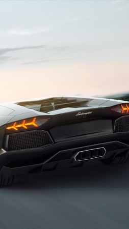 lamborghini, 5k, 4k wallpaper, 8k, supercar, aventador, black