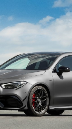 Mercedes-Benz CLA45 S AMG Shooting Brake, 2020 cars, 5K (vertical)