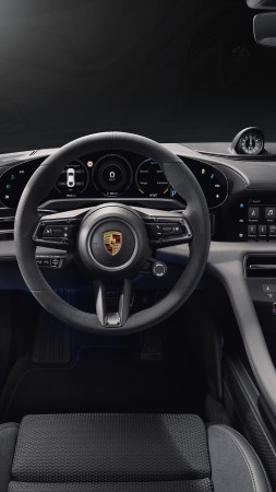 Porsche Taycan Turbo S, electric cars, 2019 cars, 5K (vertical)