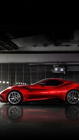Icona Vulcano, supercar, Icona, Н-Turismo, hybrid, Shanghai, sports car, red, side (vertical)