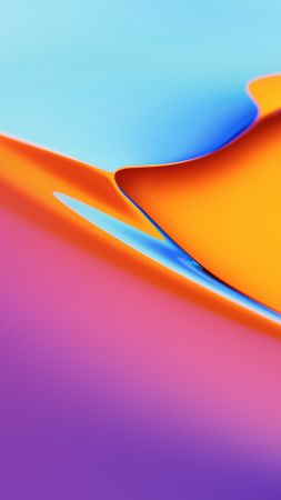 OnePlus TV, abstract, colorful, 4K (vertical)