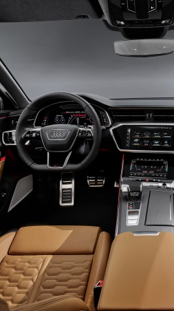 Audi RS 6 Avant, 2019 cars, 4K (vertical)