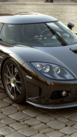 Koenigsegg CCXR, supercar, Koenigsegg, sports car, Bio Sport, ecosafe, dark grey (vertical)